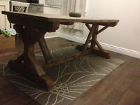 5' Long Trestle Style Dining Table