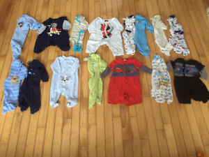 Boys 0-3 month sleepers