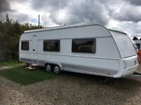 2008 tabbert Vivaldi German spec caravan with ac and wind out awning