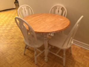 Dining room set (4 chairs + table)