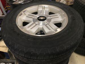 Chevrolet 18 inch 1/2 ton wheels with tires