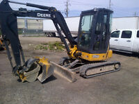John Deere 35D with hyd Thumb Excavator for RENT