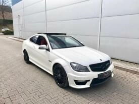 2012 12 Mercedes-Benz C63 6.3 AMG Edition 125 Coupe - WHITE + RED LEATHER