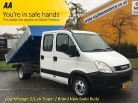 2011/ 11 Iveco Daily 35C13 Lwb D/Cab Tipper [ New Built Body ] Rear Toolstore