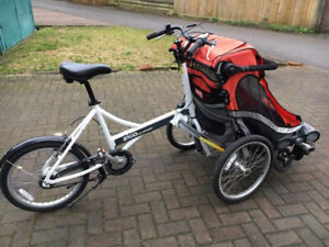 Cargo bike: 2 seater child pod up front