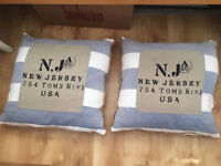Large Blue Stripe Cushions (nautical theme)