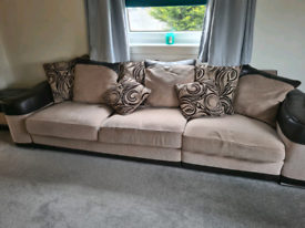 Matching large sofa, armchair and footstool. Need gone asap