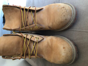 """Timberland Boys 6"""" premium WP boots - wheat coloured, size 6"""