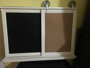 Chalkboard / Corkboard Message Center