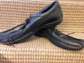 Brand new m&s blue harbour men black leather shoes size 10 1/2 uk