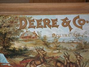 VINTAGE  JOHN DEERE  CALENDER  1890 FRAMED Windsor Region Ontario image 10