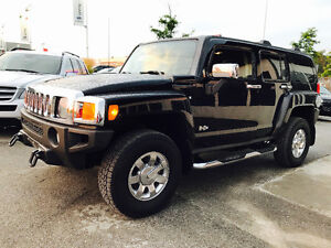 2007 HUMMER H3 BLACK ON BALCK LEATHER, TOP OF THE LINE,NAVI,ROOF