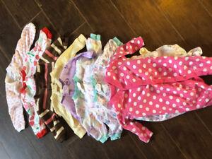 0-3 Month baby girl Sleepers