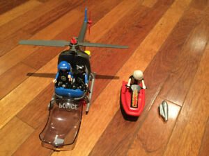 Playmobil. Helicoptère de police Kit 5764 Complet