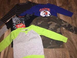 5 Boys Long Sleeved Shirts Size 5/6