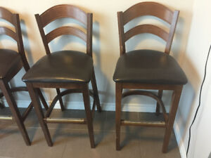 4 Cherrywood High bar chairs - Moving July 27 - 80 total
