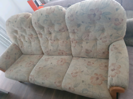Sofa with tow armchairs