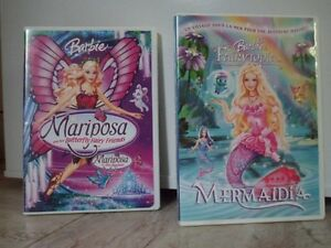 2 dvd film de Barbie 'Mermaidia et Mariposa'