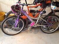 Girls bike and helmet