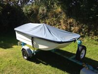 Dinghy engine and road trailer