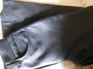 Women's Black Leather Motorcycle Riding Pants