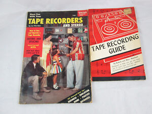 2 Vintage Books on Tape Recording