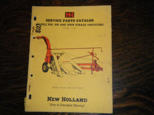 New Holland 800, 818, Forage Harvesters Service Parts Catalog
