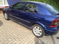 Vauxhall Astra 1.6 hatchback 2003 53 reg mettalic blue long mot fsh