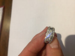 Unique Diamond Engagement Ring, no separate band needed
