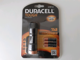 DURACELL TOUGH MINI LED TORCH WITH BATTERIES, BRAND NEW AND SEALED
