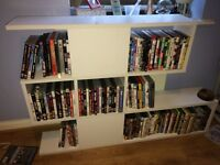 Ikea White bookshelf CD / DVD unit