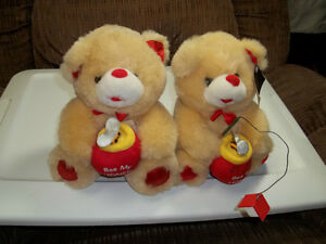 "Two ""Bee My Honey"" Teddy Bears."