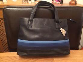 Tula Black Leather Handbag