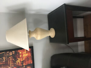 2 New end tables with lamps