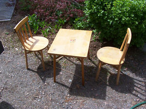 Vintage Child's Table and 2 Chairs
