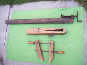 * ***  ANTIQUE WOOD CLAMPS  ***SEE EACH ITEM PRICE**