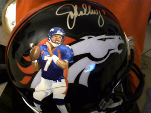 FOR SALE. 1 0F 1 JOHN ELWAY SIGNED AND HAND PAINTED FULL SIZED