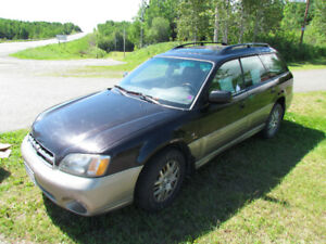 2002  Subaru Outback for sale for parts Running H-6 motor