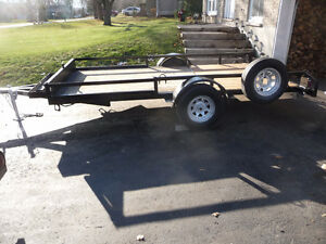 TRAILER  12 FT X 6 ft WIDE   WELL BUILT VERY SOLID !