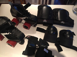 "Vegan ""leather"" roller derby skates and gear"
