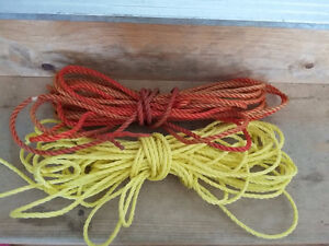 Lot of 2 ropes yellow and red colour excellent condition London Ontario image 1