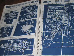 "17"" x 11"" Navy Blue & White Maps For Framing As Art = 67 MAPS"