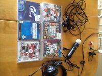 6 jeux, un headset et le ps move pour PS3