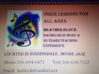 Voice Lessons for All Ages in Moose Jaw