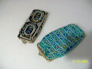 Two vintage eyeglass cases