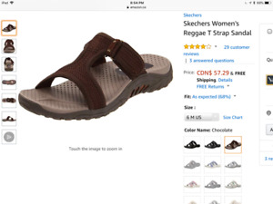 New Skechers Sandals sz6, Giftable
