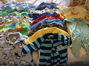5 boxes of baby clothes