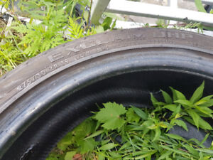 1 tire General Ex 275 30 19. 95% like new. Great for a spare