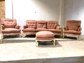 Antique French Suite Upholstery Project