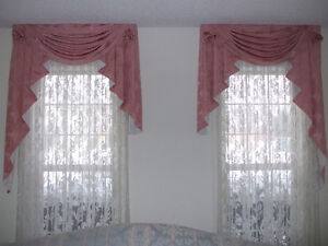 Pink Window curtains  drapes with sheers Cambridge Kitchener Area image 1